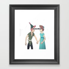 run away with me  Framed Art Print