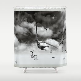 Birds sky Shower Curtain