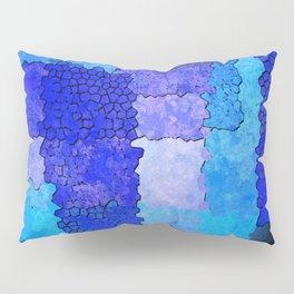 Blue Grunge Pillow Sham