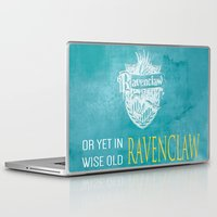 ravenclaw Laptop & iPad Skins featuring Wise Old Ravenclaw by MilkP