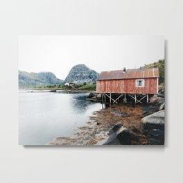 Palafittes in Norway Metal Print
