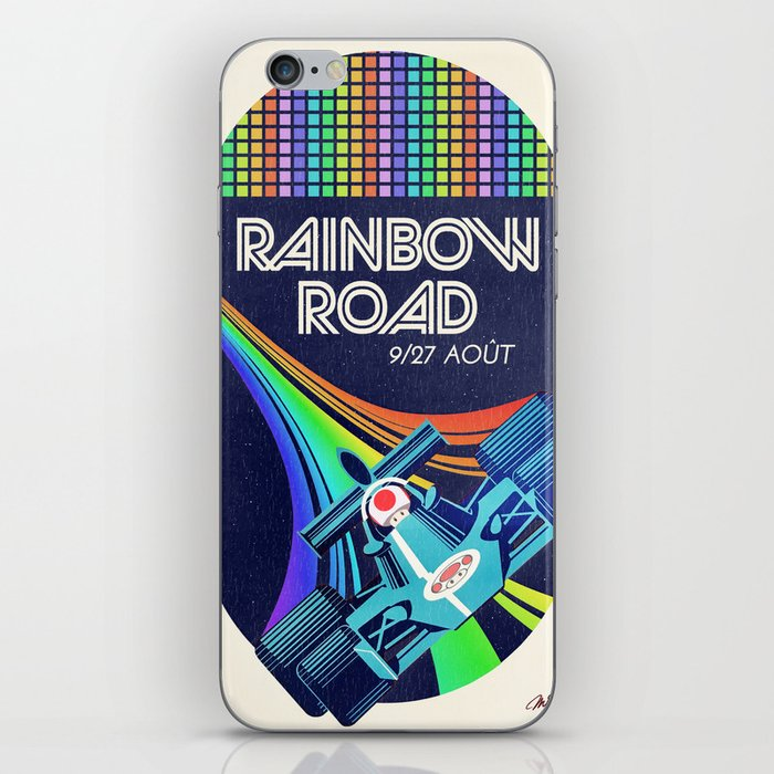 Rainbow Road Grand Prix iPhone Skin
