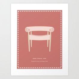 Mid-Century Ring Chair Art Print