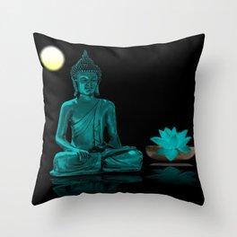 Buddha Yoga Style Throw Pillow