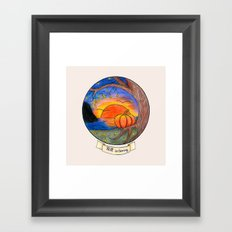 Fall is coming Framed Art Print