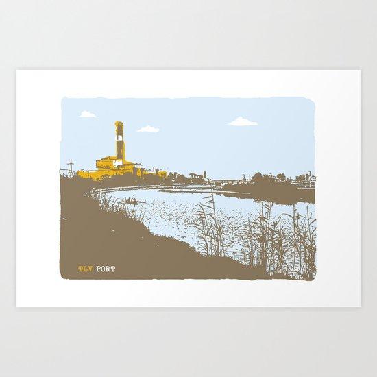 TLV port Art Print