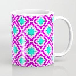 Cowgirl Pink and Turquoise Navajo Native Inspired Oklahoma Arizona Southwestern Design Pattern Coffee Mug