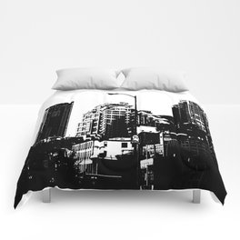 99 North in Black and White Comforters