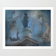 Rome Statues Art Print