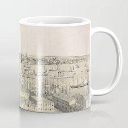 Vintage Illustrative View of Brooklyn NY (1846) Coffee Mug