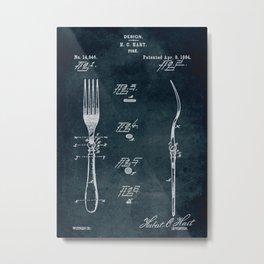 1884 - Fork patent art Metal Print