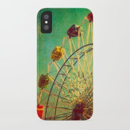 The Unbearable Elation of Summer carnival ferris wheel  iPhone Case