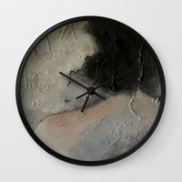 imagerybydianna Wall Clocks featuring the hours by Imagery by dianna