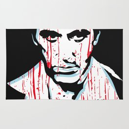 Scarface movie portrait Rug
