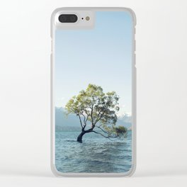 That tree in the middle of the lake Clear iPhone Case