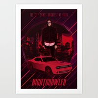 nightcrawler Art Prints featuring Nightcrawler by Anton Yeroma