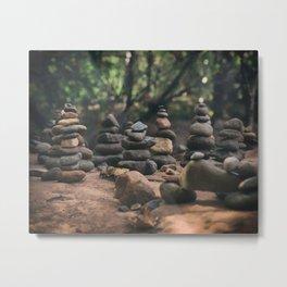 Buddha Beach Cairns Sedona Metal Print