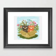 Carton Of Cute Kitties Framed Art Print