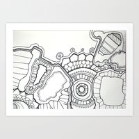 pen and ink hallucination Art Print