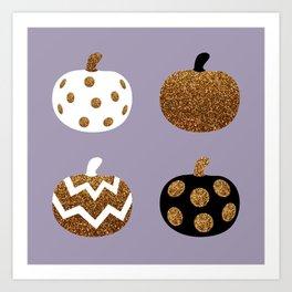 Pick a peck of purple pickled pumpkins Art Print