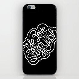 Life Love Stuff Yeah (White) iPhone Skin