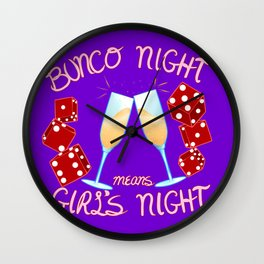 Bunco Night Wall Clock