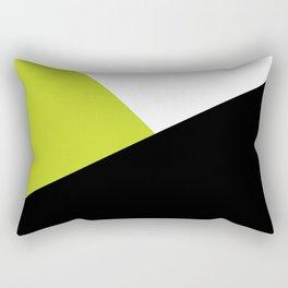 Trichromatic Black White Lime Color Block Rectangular Pillow