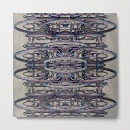 Futuristic Architecture Tube Cage Building Metal Print