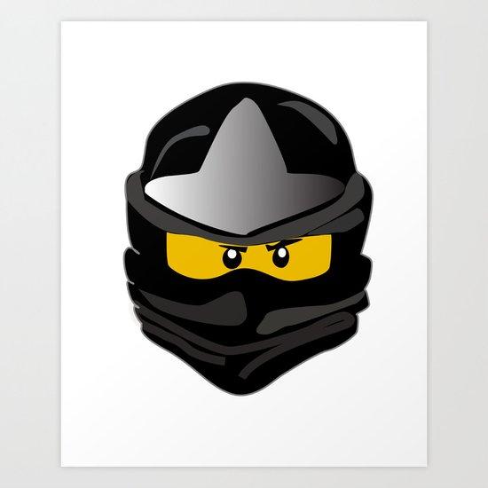 Ninjago face Cole Art Print