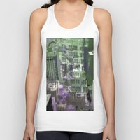 houston Tank Tops featuring Downtown Houston by TheBigBear