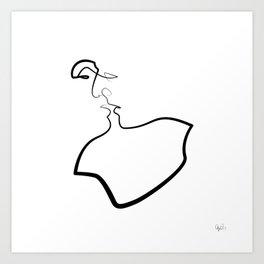 Friday Kiss Art Print