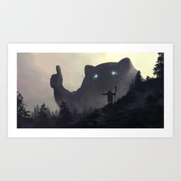 yo bro is it safe down there in the woods? yeah man it's cool Art Print
