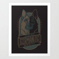 GERMAN SHEPHERD (LOYAL) Art Print
