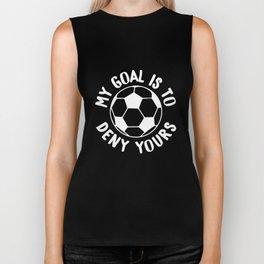 Cute Soccer Goalie & Defender Biker Tank