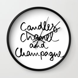 Candles and champagne Wall Clock