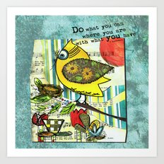 Be Resourceful Art Print