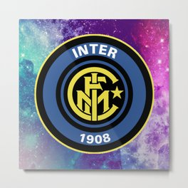 Inter Milan FC Galaxy Metal Print