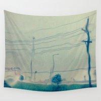 kansas Wall Tapestries featuring Kansas City Rain by Jason Simms