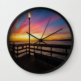 Pier Side - Seal Beach Wall Clock