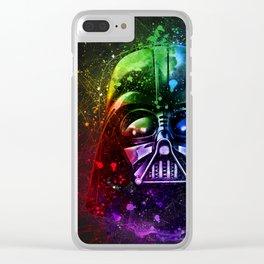 Darth Vader Splash Painting Sci-Fi Fan Art Clear iPhone Case