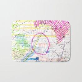ballpoint pen and highlighter on printer paper #3 Bath Mat