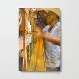 jarocho con arpa Metal Print
