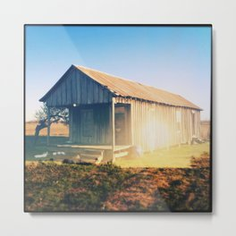 Old House, Leland, Mississippi (Double Exposure) Metal Print