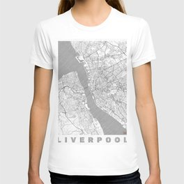 Liverpool Map Line T-shirt
