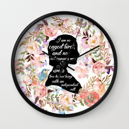 Jane Eyre Quote Wall Clock