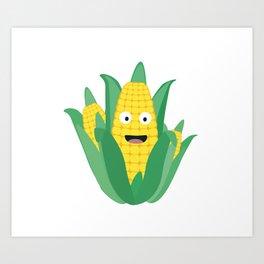 Cute Farmers Corn Art Print