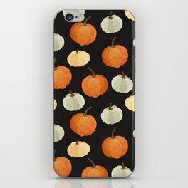 Orange yellow gray black watercolor pumpkin pattern iPhone Skin