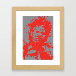 August 18, 1973: Bloodstain Leatherface (color combination J) Framed Art Print