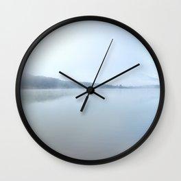 """Wild sunrise"". Foggy lake Wall Clock"