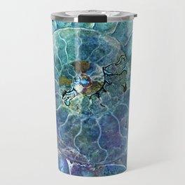 Aqua seashell - mother of pearl - Beautiful backdrop Travel Mug